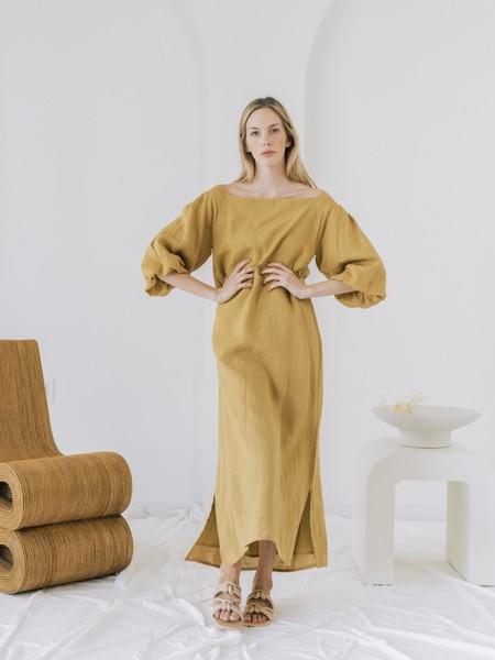 LAUDE the Label Cleo Dress - Turmeric Linen