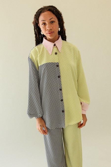 KkCo Lounge Shirt - Mixed Checker