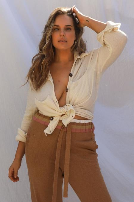 Jen's Pirate Booty Mahzar Shirt - Natural