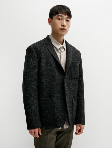 Margaret Howell Shirt Jacket Harris Tweed Charcoal