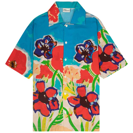 Drôle De Monsieur flower riviera shirt - Blue Sky