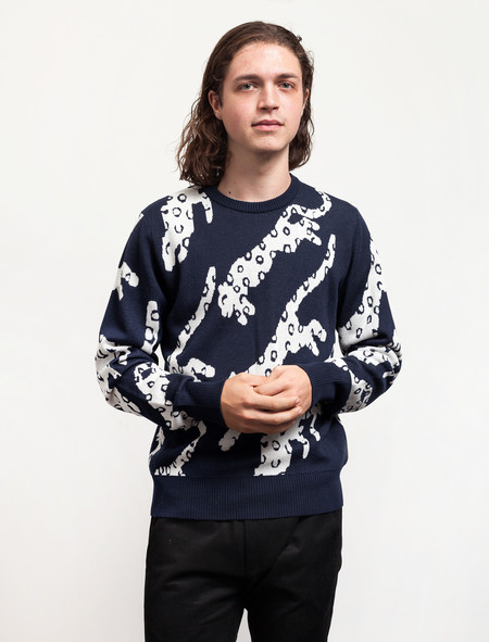 Christopher Raeburn Snow Leopard Sweater Navy