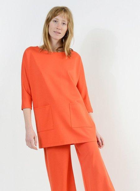 Meg Patch Pocket Tunic - Orange