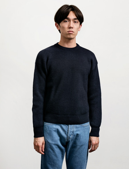 Cristaseya Soft Wool Sweater - Navy