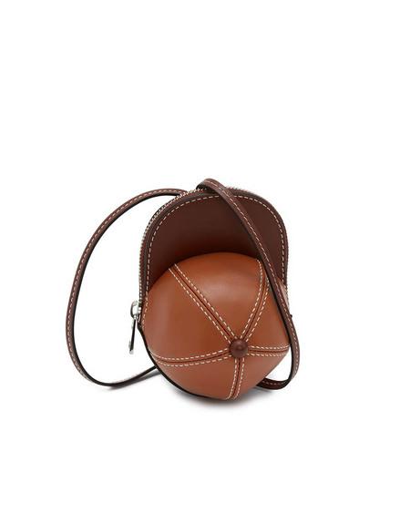 JW Anderson Nano Cap Leather Bag - brown