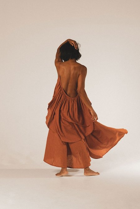 A PERFECT NOMAD SYROS dress - ochre