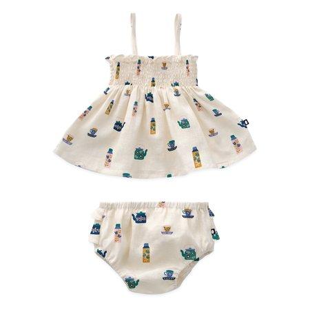 Kids Oeuf Baby Smock Set - Gardenia