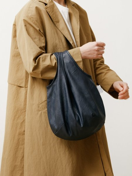 Priory Egg Tote - Vegan Leather Navy