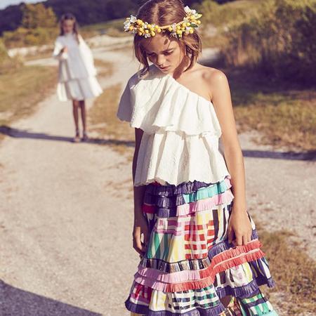 Kids Tia Cibani Kids Abeba Ruffled Skirt - Maasai Madras Print