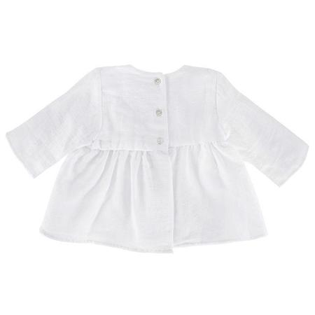 Kids Pequeno Tocon Long Sleeved Dress - White