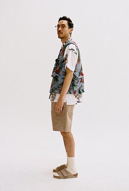 Engineered Garments Polyester Cover Vest - Light Blue/Floral Print