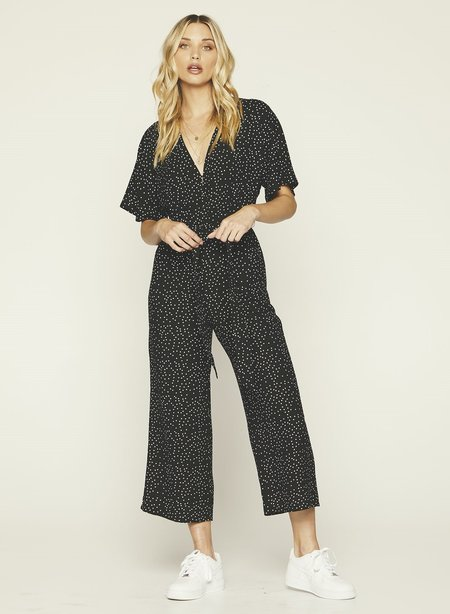 Knot Sisters Ruby Jumpsuit - Black/White Polka Dots