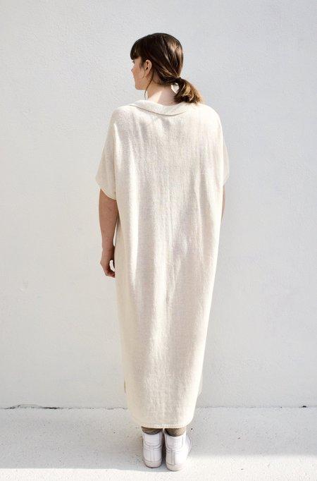 Mónica Cordera Linen Polo Dress - Natural