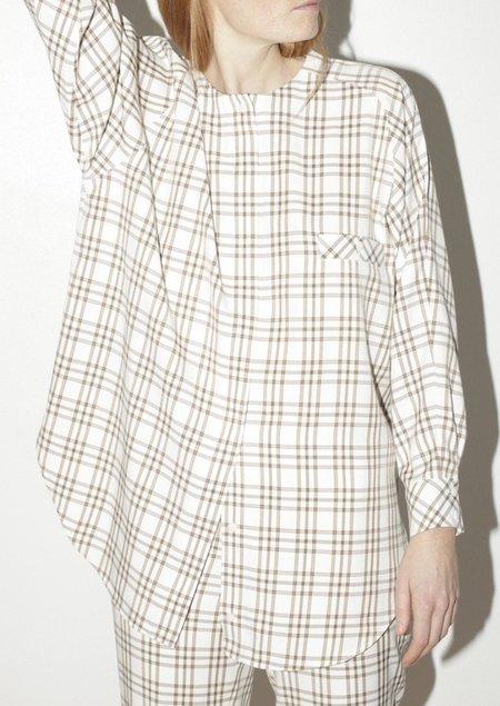 Mr. Larkin Queenie shirt - Curtain plaid