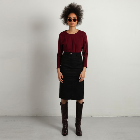 Studio Heijne Denim Skirt - Black