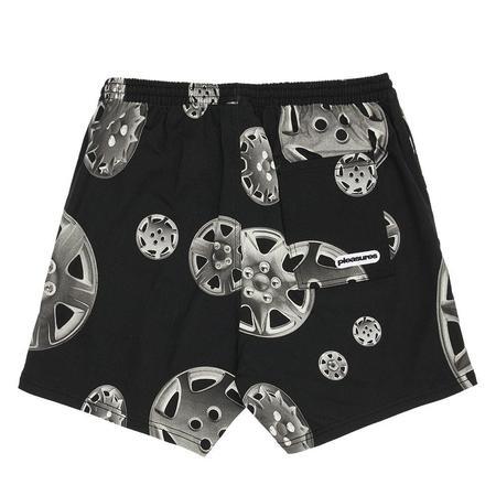 PLEASURES Roadside Twill Shorts - Black