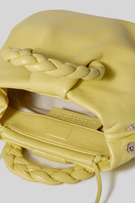 Hereu Leather Dusty Bombon Crossbody - Yellow
