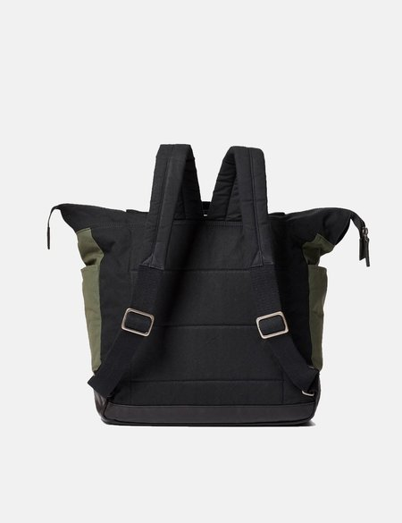 Ally Capellino Frank Hybrid Waxy Rucksack bag - Olive Green