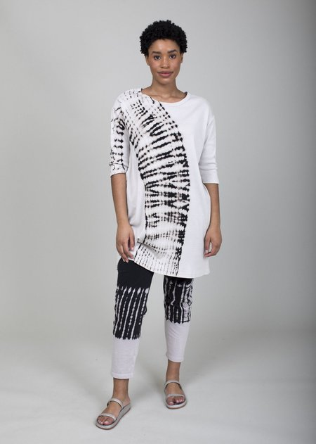 Raquel Allegra Ankle Pant - White/Black Hilma