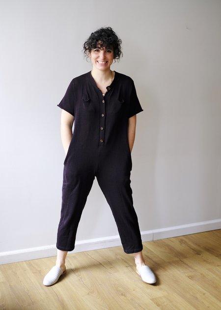 été noir High Neck Jumpsuit with Pockets - Soft Black
