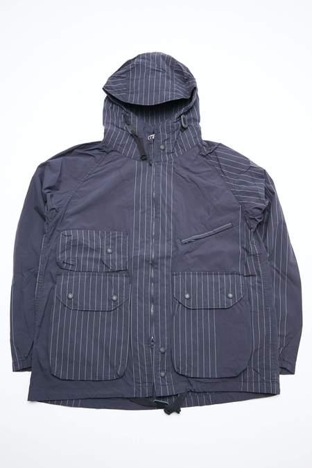 Engineered Garments Atlantic Nyco  Parka - Dark Navy Gangster Stripe