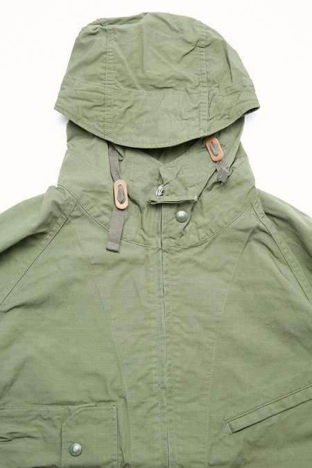 Engineered Garments Atlantic Cotton Ripstop Parka - Olive