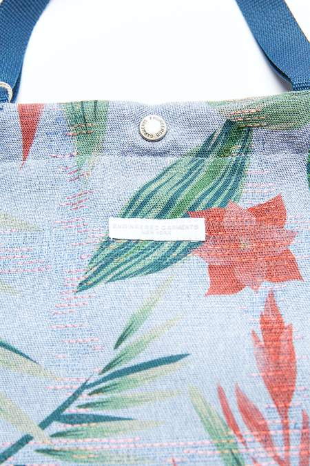 Engineered Garments Carry All Tote - Lt.Blue Polyester Big Floral Print
