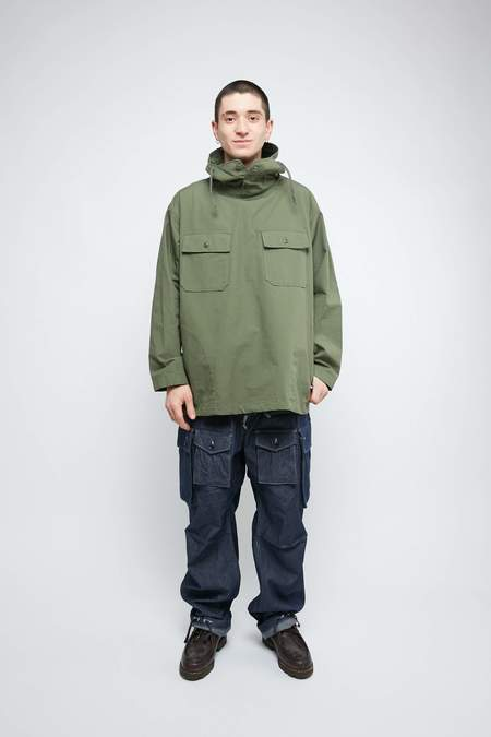 Engineered Garments for Totem Brand Co. Cagoule Shirt jacket - Olive Cotton Ripstop