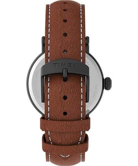 Timex® Standard 40mm Leather Strap Watch