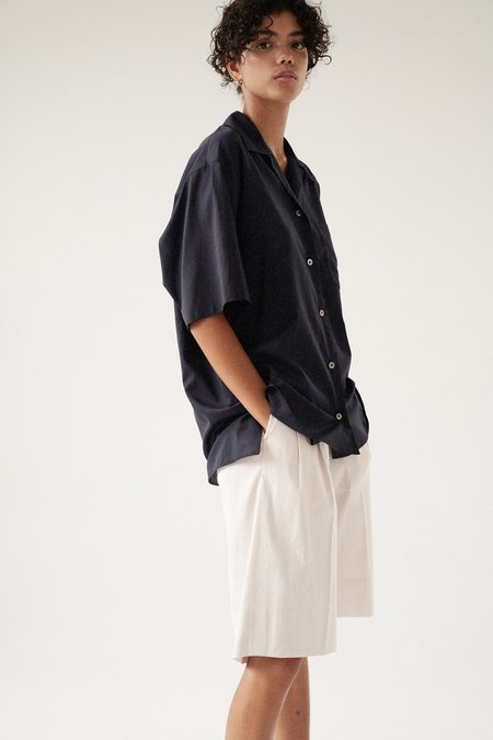 Sayaka Davis Cotton Cupro Open Collar Shirt