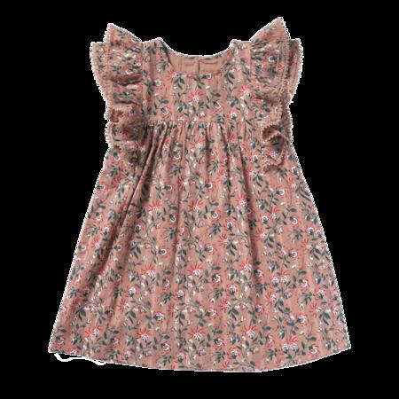 kids bonheur du jour luce dress - pink coral