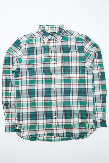 Beams Plus B.D. Madras Shirt - Green
