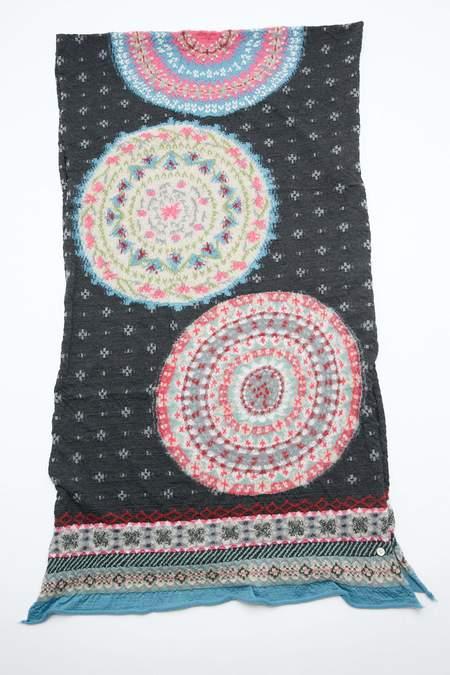 Kapital Compressed Wool FIVE RINGS Scarf - Black