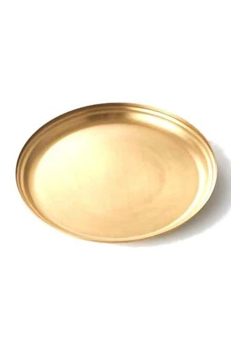 139 project large round tray - brass