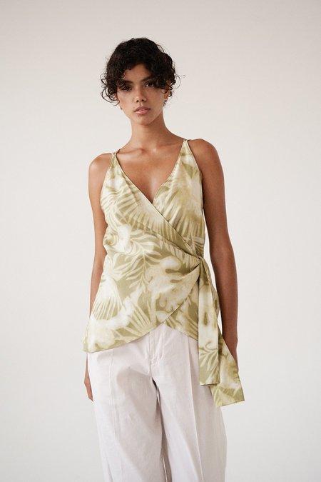 Sayaka Davis Wrap Tank - Tropical Print