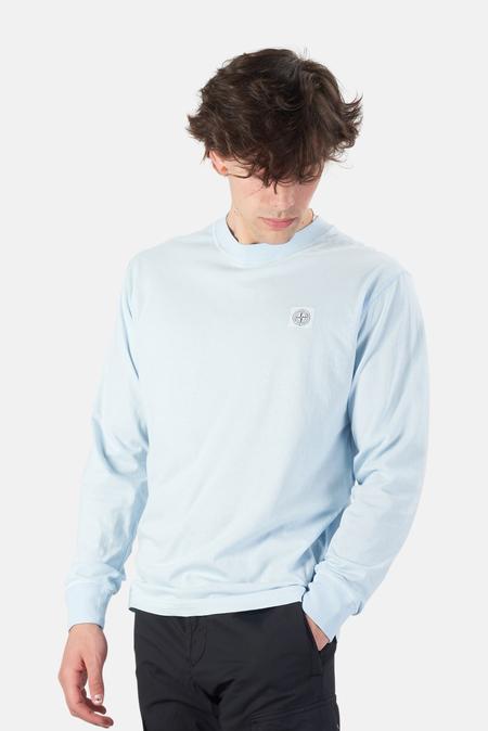 Stone Island Chest Logo T-Shirt - Sky Blue