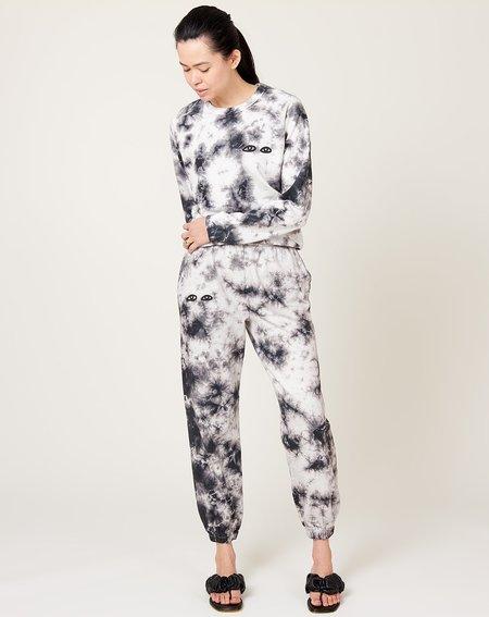 Clare V. Sweatpants - Black Cloud Tie Dye