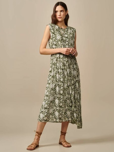 Bellerose Siggy Floral Dress - Khaki