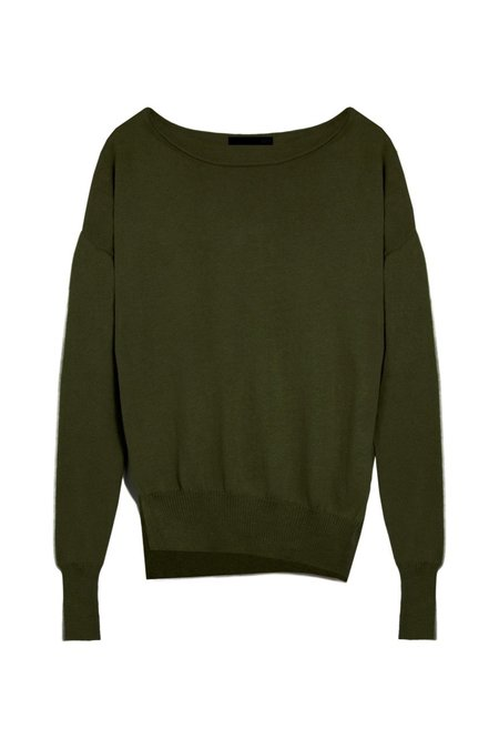 KES x Lars Andersson Asymmetric Pullover Sweater - Military