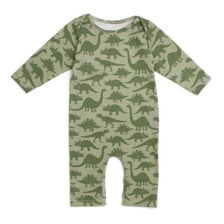 Kids Winter Water Factory Long Sleeve Romper - Dinosaurs Sage