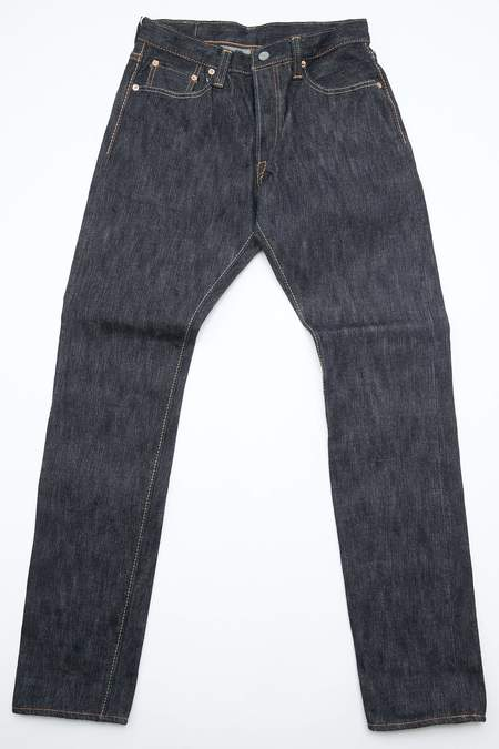 Pure Blue Japan 17.5oz EX Slub Denim Relaxed Tapered Woven Jeans - Wash Indigo