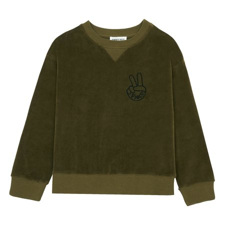 Kids Hundred Pieces Cool Pieces Velvet Sweatshirt - Bronze