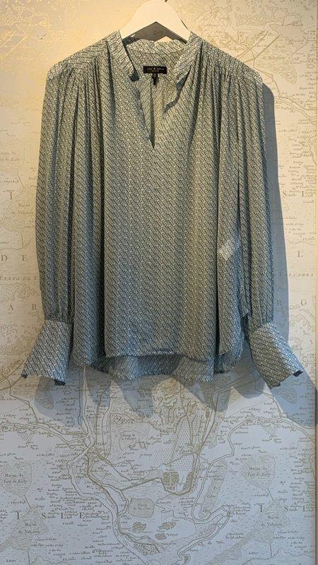 Rag & Bone Carly Printed Long Sleeve Blouse