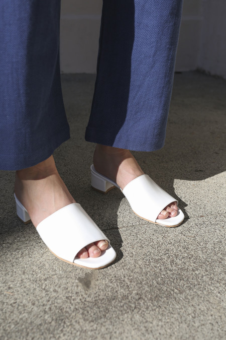 Maryam Nassir Zadeh Sophie Slide in White Patent