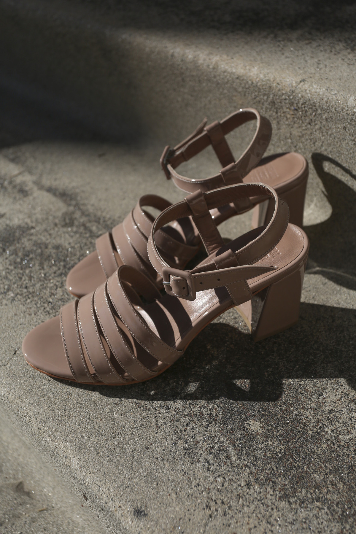 953df880c18 Maryam Nassir Zadeh Palma High Sandal in Taupe Patent