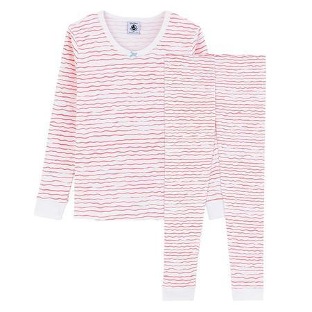 kids Petit Bateau Child Mermaid Waves Print Pyjamas - Pink