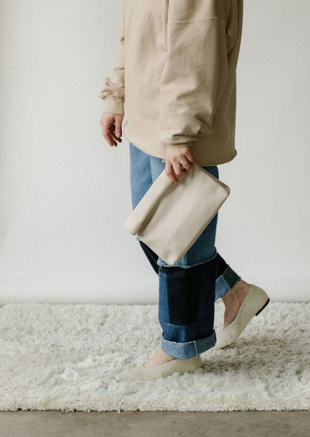 Marie Turnor Lunch Clutch - Off White