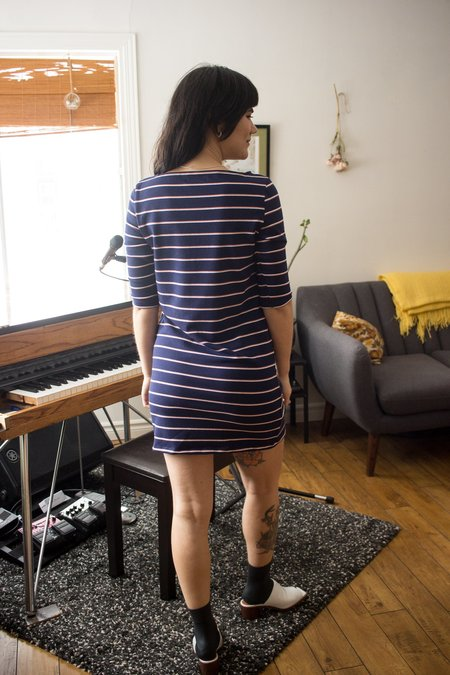 Meemoza Mariniere Dress - Navy Stripes