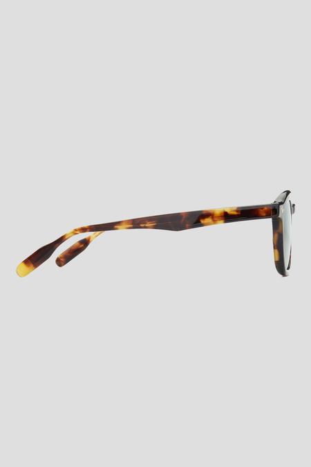 Lunetterie Générale Cognac Sunglasses - Tortoise/Green