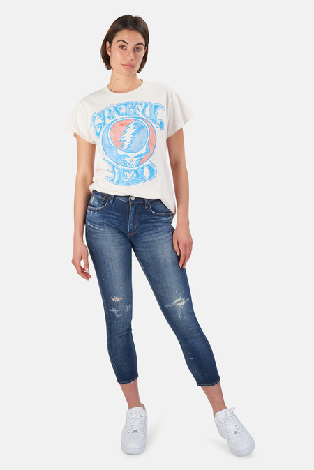 MadeWorn Rock Grateful Dead Steal Your Face T-Shirt - Off White